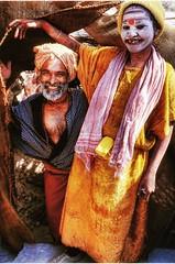 Sadhu monks .. Rishikesh . India . 1995