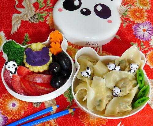Wonton Pandamonium Bento by sherimiya ♥
