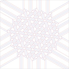 3D Weave (blue paper) Tags: art paper origami pattern joel cooper fold cp crease tessellation folding