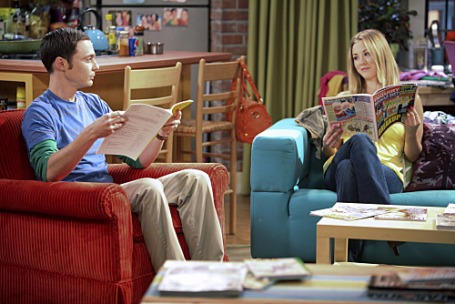 Penny and Sheldon and the Chair