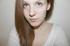 Simple (Tara Fortune) Tags: brown white green girl hair eyes hazel