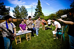 Music Video Disaster (Gamma-Ray Productions) Tags: people canada me backyard ottawa band setup staged musicvideo doppelganger