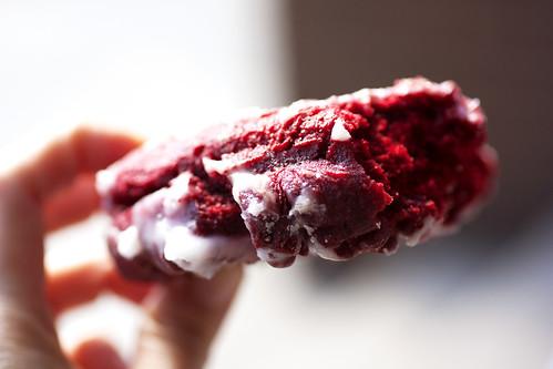 red velvet doughnut @ donut pub