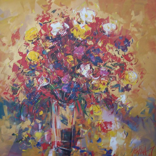 Spring Flowers - Original Painting Impressionisstic