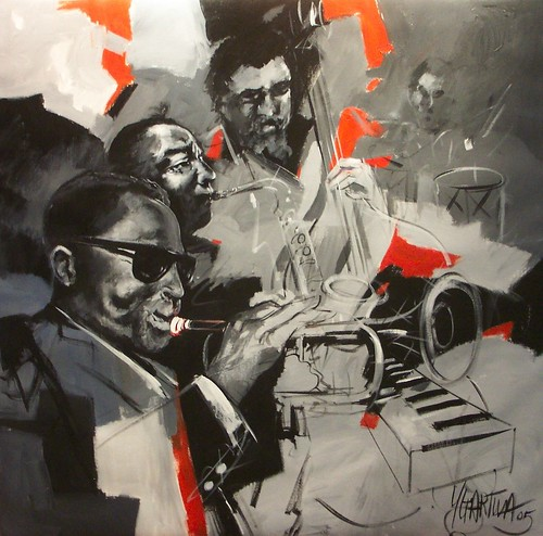 Jazz Nights -  Painting - 120 x 120 cm