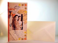 Felicitare handmade personalizata (Cristina.Stoica) Tags: scrapbooking carton funda hartie margele felicitarehandmadepersonalizata