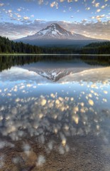 Morning Reflections (Rich Bitonti) Tags: lake reflection clouds oregon trillium mt northwest cascades hood