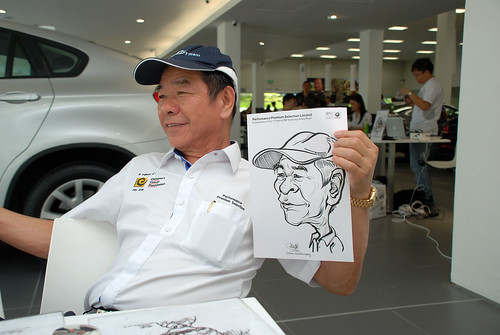 Caricature live sketching for Performance Premium Selection first year anniversary - day 4 - 12