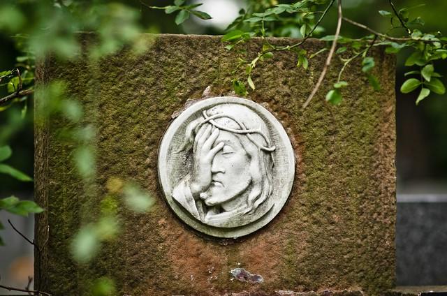 cemetery facepalm