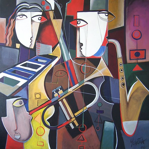Musicos - Cuadro - Original