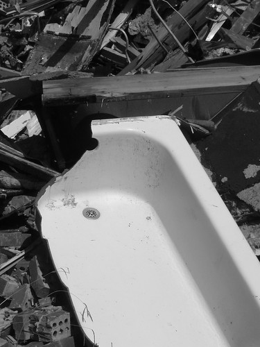broken bathtub