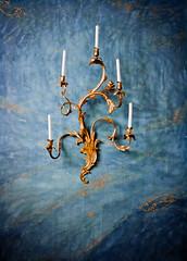 Gold-flecked (campra) Tags: blue flower floral germany gold candle five chandelier sanssouci potsdam schlosspark rococo neuekammern