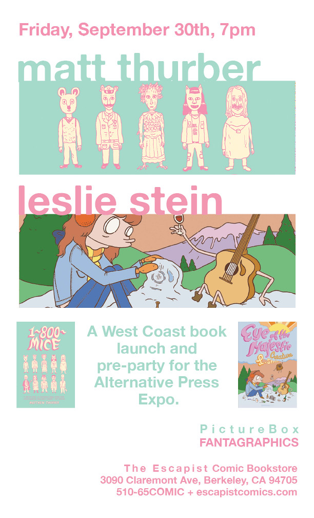 Leslie Stein signing at The Escapist