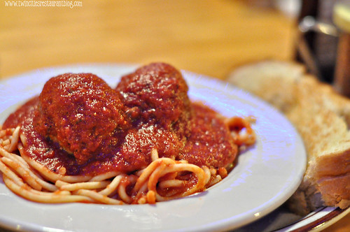 Spaghetti and Meatballs at Donatelli's ~ White Bear Lake, MN