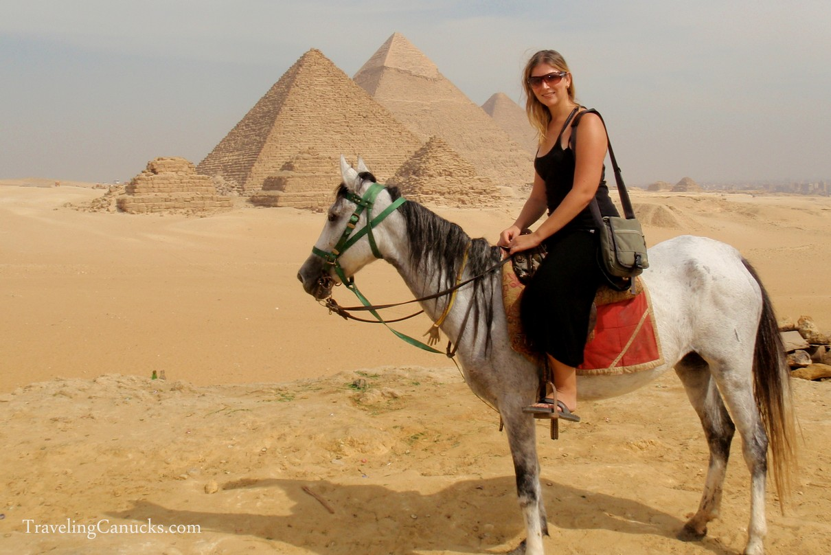 Horseback riding in the Giza desert