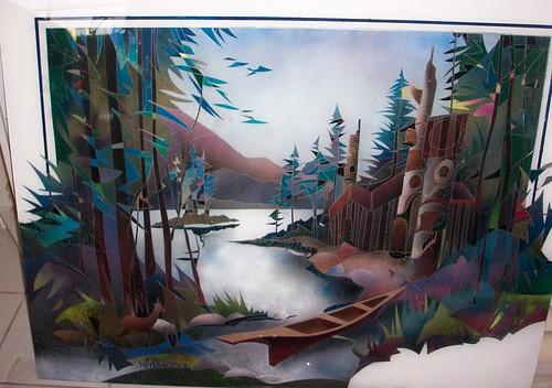 West Coast Totems - Painting Original Plexiglass