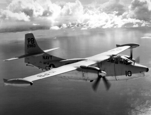 North American AJ-2P VAP-61 in flight near Guam