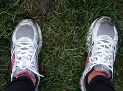 2011 Susan G Komen Race for the Cure (lynne_b) Tags: city pink chicago me wet grass rain race support shoes mud cancer sneakers il event footwear grantpark benefit tribute awareness fundraiser breastcancer breastcancerawareness muddy laces 5k supporters runningshoes cause athleticshoes findthecure newsod lynneb 2011susangkomenraceforthecurechicago