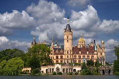 Castle Schwerin (Axel_) Tags: lake castle water clouds deutschland see landtag wasser capital wolken parliament schloss turm trme mecklenburgvorpommern schwerin stateparliament landeshauptstadt burgsee