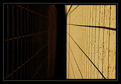 269 - September 26 2011 - a thousand bars (Kristoffersonschach) Tags: light shadow fence dark sony alpha rilke sonyalpha550 3652011 2011inphotos