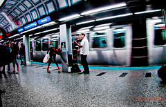 Louie CK moment (VladLovesMishi) Tags: street train subway blueline streetphotography trains violin streetperformer