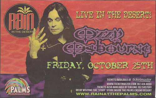 10-25-02 Ozzy Osbourne @ Rain in the Desert at Palms Casino, Las Vegas, NV