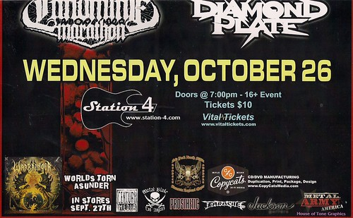 10-26-11 Warbringer/Lazarus AD/Landmine Marathon/Diamond Plate @ Station 4, St. Paul, MN (Bottom)