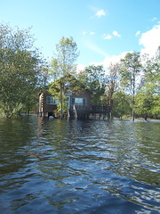 House on Stilts Surrounded By Water (andyarthur) Tags: house lake water by surrounded thompson thompsons stilts andyarthur