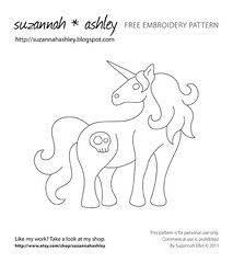 Unicorn Embroidery Pattern