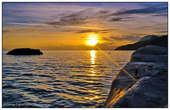 west...paradise!!(2) (george papapostolou) Tags: travel blue sunset sea sky mountains beach nature colors landscape island kos greece