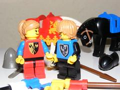 Lego Forbidden love (vegeta25) Tags: castle love funny lego fujifilm minifig blackfalcon minifigure s5800 lionknight