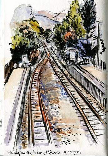 Garve rail station, view from pedestrian bridge
