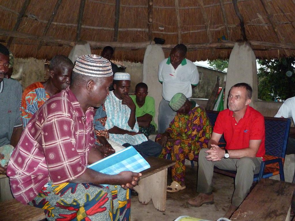 Visite du Chef de la délégation de l'UO chez une OP appuyée par AVSF, Togo