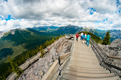 Sulphur Mountain walkway (Northwest dad) Tags: summer canada cool nikon fisheye alberta 8mm d300 samyang prooptic