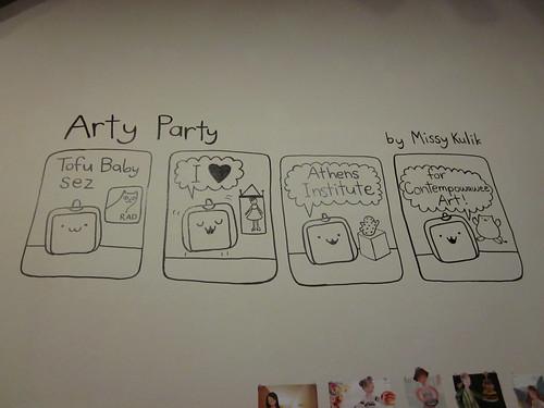 I drew this comic on the wall of ATHICA.