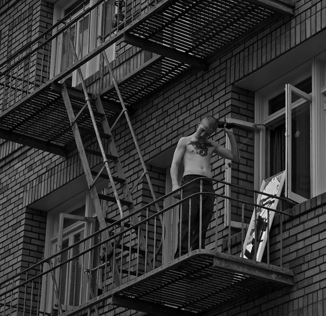 Fire Escape Haircut 1