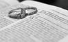 7/365 (Katie.Robinson.0123) Tags: blackandwhite bw love rings bible weddingring 1corinthians13 365days 365project
