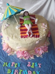 chilling (The Whole Cake and Caboodle ( lisa )) Tags: newzealand shells beach cakes cake umbrella 21 plumeria stripes 21st towel frangipani whangarei caboodle frangipanis afare thewholecakeandcaboodle