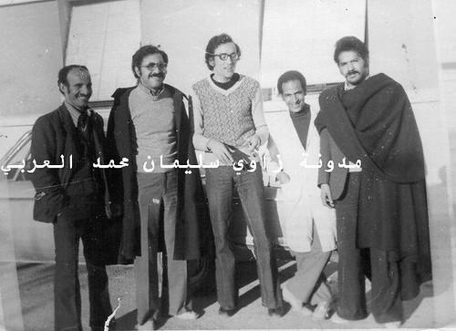 مستشفى أفلو : من اليمين : دزايت- لعيدي -طبيب صلاح - طبيب مصري - خميلى عباس