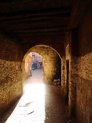 Alley in the Medina, Marrakech (BuzzTrips) Tags: marrakech medina marrakesh foodstalls jemaaelfna redcity marrakechmuseum lakoutoubia museumofmarrakech photoguidetomarrakech souksinmedina tagineinmarrakech