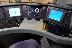 Trains17 (ota dokan) Tags: shop train handle seat touch traction dial rail screen joystick button antwerpen noord nmbs lx5