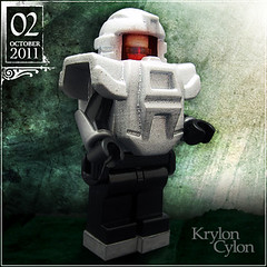 October 02 - Krylon Cylon (Morgan190) Tags: halloween silver robot scary october advent calendar lego metallic creepy scifi sciencefiction minifig minifigs custom android krylon cylon battlestargalactica m19 minifigure 2011 brickforge morgan19 morgan190