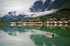 Just Hangin' On (Dave Hilditch Photography) Tags: mountains water norway clouds boats landscapes sognefjord skjolden topshots fiors natureselegantshots saariysqualitypictures waterenvirons flickrsportal masterclasselite