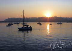 Sunrise @ Cowes (hov1s@) Tags: reflection sunrise boat sailing ship solent cowes
