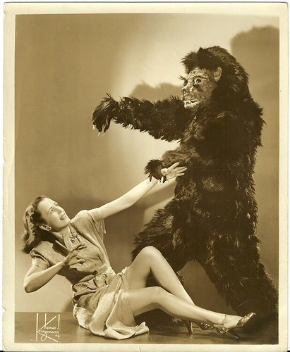 Bill Neff's Madhouse of Mystery - gorilla and girl