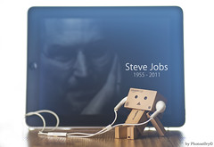 Remembering Steve ... | by PhotoSt0ry  (hanks studio) Tags: apple stevejobs photostory ipad danbo jfigure stevejob memorykeeper danboard hanks55 photost0ry farewellstevejobs