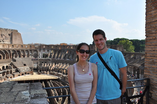 Liz and Rob in Rome