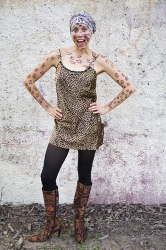 diy leopard halloween costume