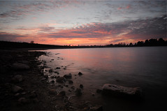 Guelph Lake Sunset (Davey S) Tags: sunset red sky lake water guelph guelphlake grca grcaconservationareas