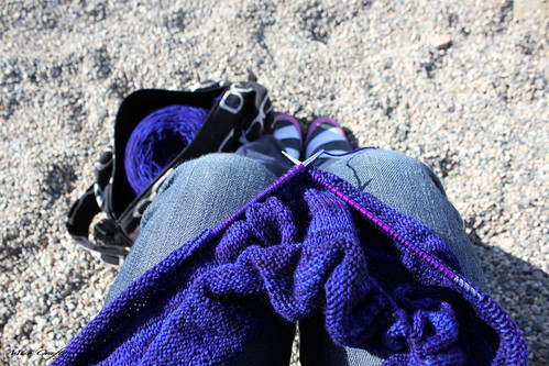 Knitting on the playground